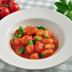 Potato Gnocchi with Tomato and Basil Sauce