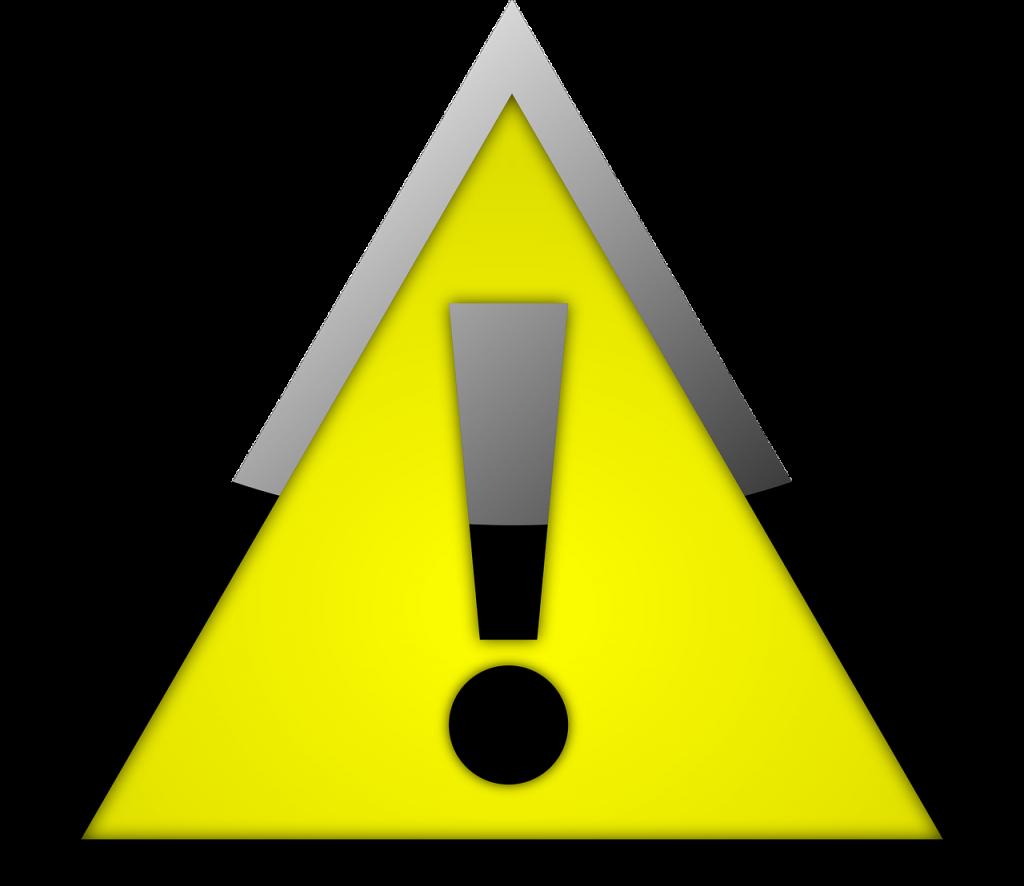 danger sign yellow warning