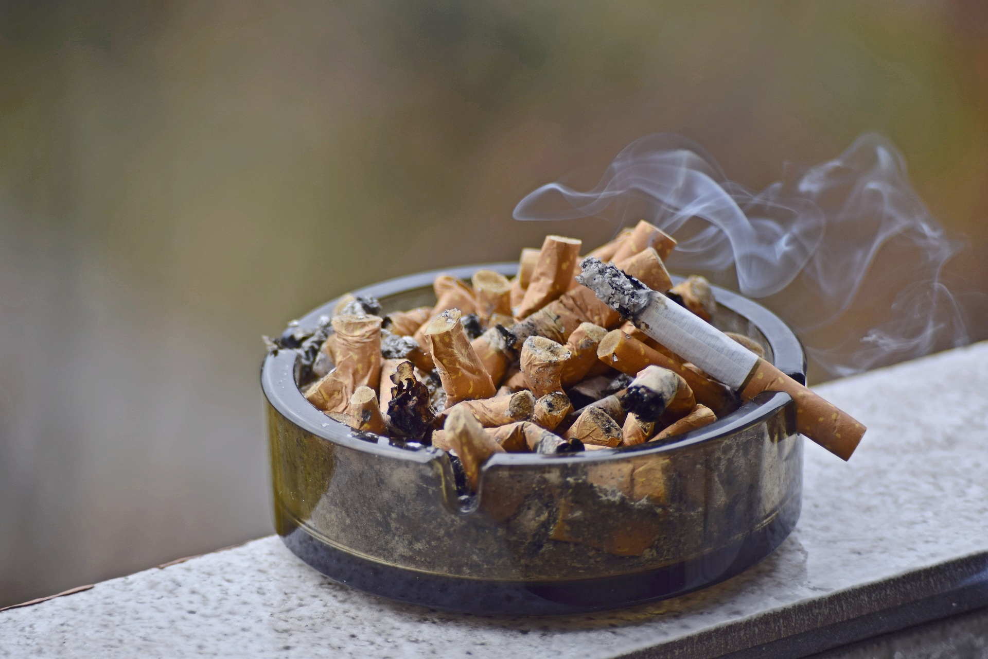 cigarettes in ashtray