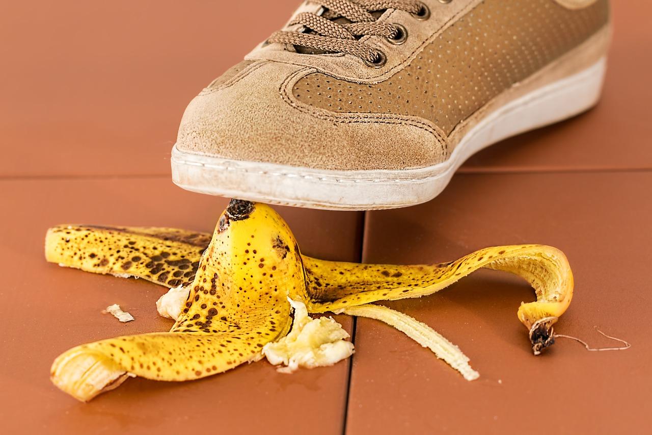 slip on banana skin