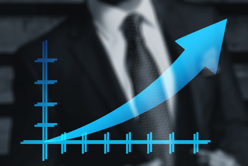 upward arrow on graph