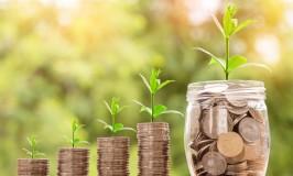 investment finance money in jar